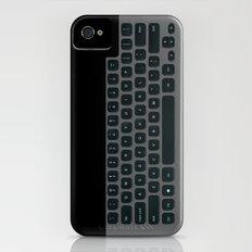 Brushed Metal Keyboard Slim Case iPhone (4, 4s)