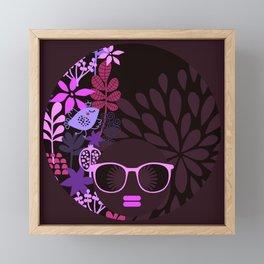Afro Divva Magenta Lavender Eggplant Framed Mini Art Print