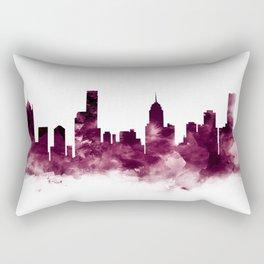 Melbourne Skyline Rectangular Pillow