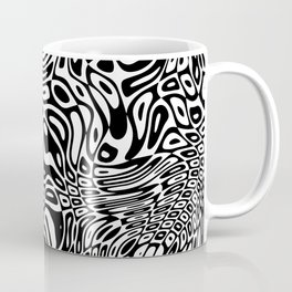 Black  and white psychedelic optical illusion Coffee Mug