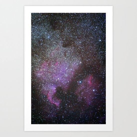 North America Nebula and Pelican Nebula Art Print