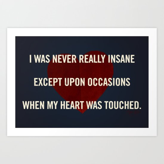 Insane Love Art Print