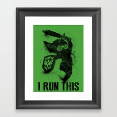 Link Boss Black Version Framed Art Print