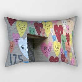 I Heart Brooklyn, Graffiti Art in Williamsburg, BK, New York Rectangular Pillow