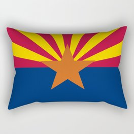 Arizona State flag, Authentic scale & color Rectangular Pillow