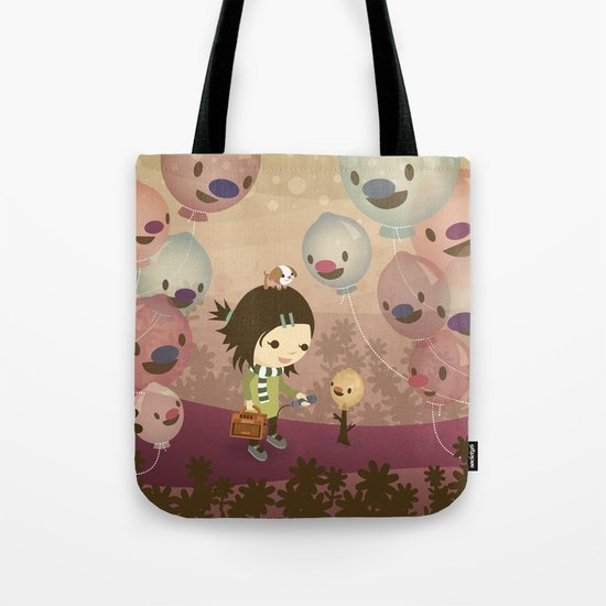 Balloon Tree Song Tote Bag