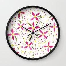 Petals and Joy Wall Clock