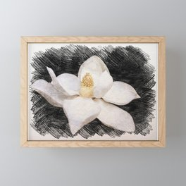 Beautiful Magnolia Flower in Full Bloom Framed Mini Art Print