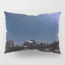Summer Stars - Galaxy Mountain Reflection - Nature Photography Pillow Sham