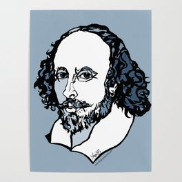 William Shakespeare The Bard by Arty Mar Poster