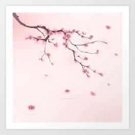 Oriental cherry blossom in spring 002 Art Print