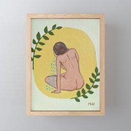 She finds Strength Framed Mini Art Print