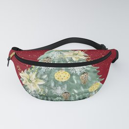 Christmas Tree Merry Christmas Red Fanny Pack
