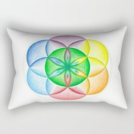 The Seed of Life - The Rainbow Tribe Collection Rectangular Pillow