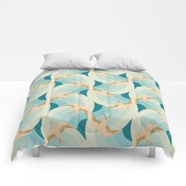 flying birds Comforters