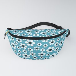 Dizzy Daisies - teal - more colors Fanny Pack