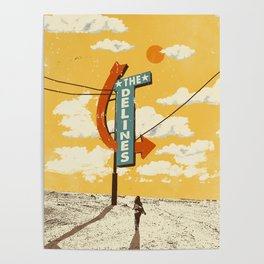 THE DELINES - Official Merch Poster Poster