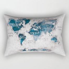 world map 13 #worldmap #map #world Rectangular Pillow