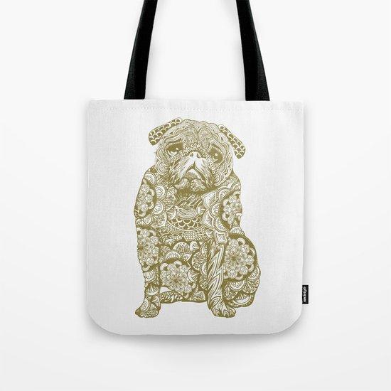 Mandala Pug Tote Bag
