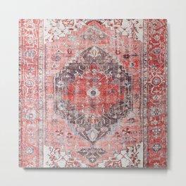N62 - Vintage Farmhouse Rustic Traditional Moroccan Style Artwork Metal Print