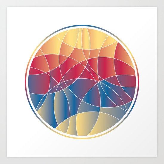 Sunset Curves Art Print