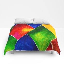 GEOMETRIC BRIGHTS #4 Comforters