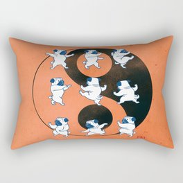 Pug Tai Chi Moves Rectangular Pillow