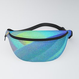 Blue Morning View, Abstract Fanny Pack