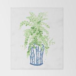 Ginger Jar + Maidenhair Fern Throw Blanket