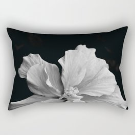 Hibiscus Drama - Black and Grey Rectangular Pillow