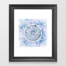 BLUE SKY MANDALA Framed Art Print