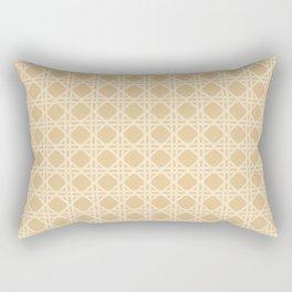 Cane Rattan Lattice in Neutral Natural Rectangular Pillow