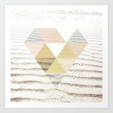 Beach Diamond Art Print