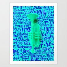 Lyrics & Type - Johnny Cash Art Print