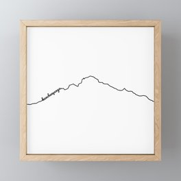 Kanchenjunga Art Print / White Background Black Line Minimalist Mountain Sketch Framed Mini Art Print