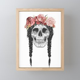 Festival skull Framed Mini Art Print