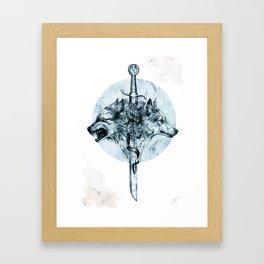 Dire Wolf Framed Art Print