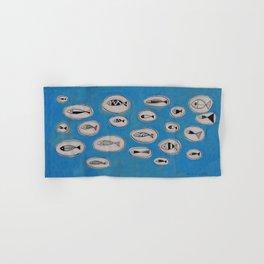 Sea of bubbles with fish / Mar de bombolles amb peixos Hand & Bath Towel