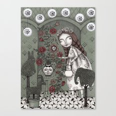 When it Snows Outside (My Secret Garden) Canvas Print