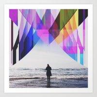 Ocean's Edge  Art Print