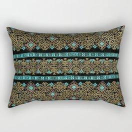 Pattern 021 black&gold Rectangular Pillow