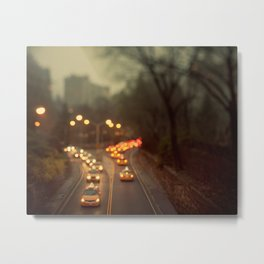 Central Park Taxis - New York Photography Metal Print