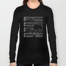 The Moonlight Sonata Blue Long Sleeve T-shirt