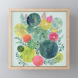 Succulent Circles Framed Mini Art Print