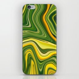 Sunny green marble iPhone Skin