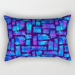 Blue watercolor brush Rectangular Pillow
