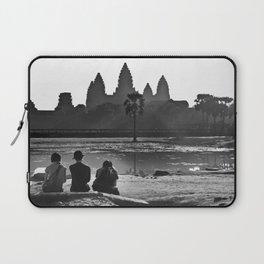 Three amigos enjoying the view of Angkor Wat Laptop Sleeve