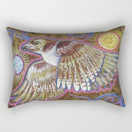 Soaring (Red-Tailed Hawk Painting) Rectangular Pillow