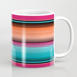 Traditional Mexican Serape in Teal Coffee Mug