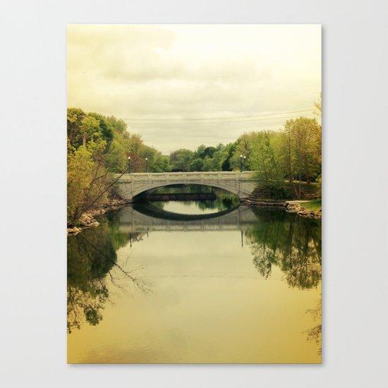 Bridge & Yellow Sky Canvas Print